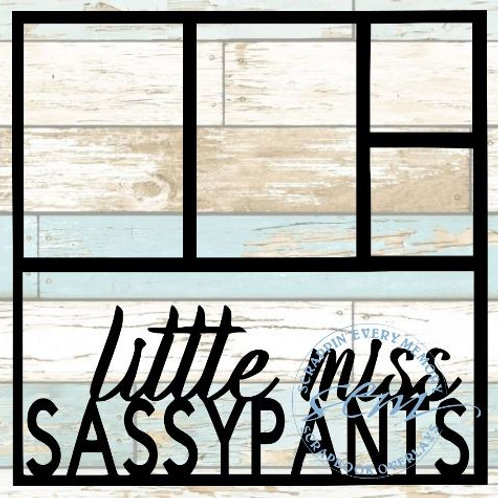 Little Miss Sassypants Scrapbook Overlay