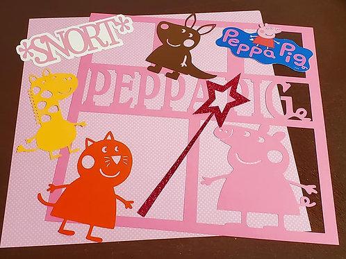 Peppa Pig Scrapbook Page Kits