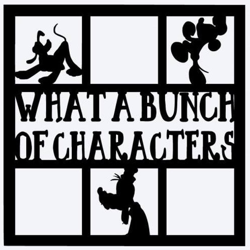 What A Bunch Of Characters Scrapbook Overlay