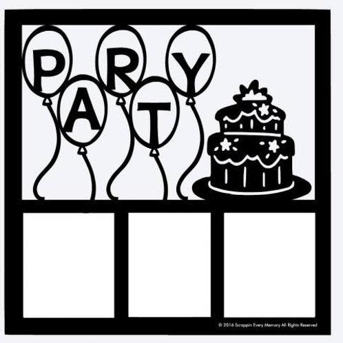 Party Scrapbook Overlay