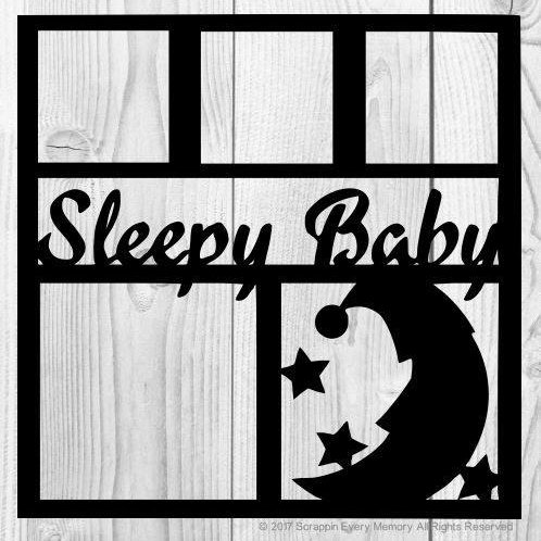 Sleepy Baby Scrapbook Overlay