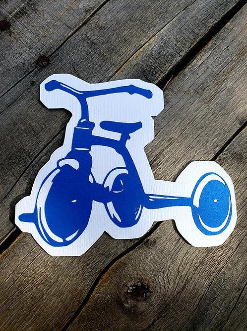 Tricycle Paper Piecing Die Cut