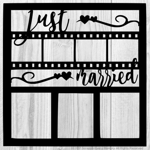 Just Married Scrapbook Overlay