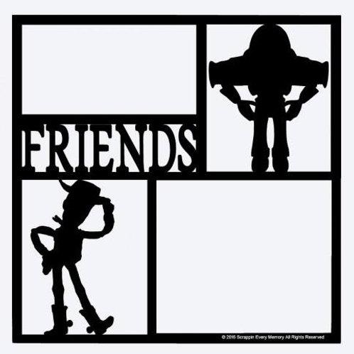 Woody & Buzz Friends Scrapbook Overlay