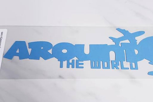 Around The World Scrapbook Deluxe Die Cut