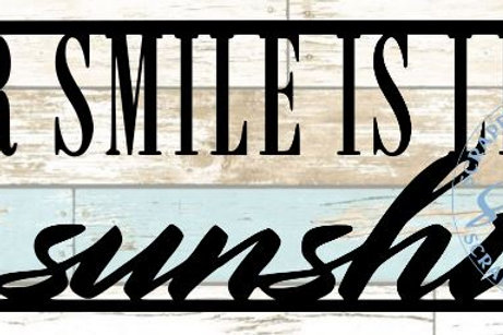 Your Smile Is Like Sunshine Scrapbook Title