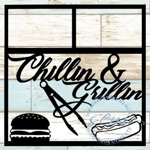 Chillin & Grillin Scrapbook Overlay