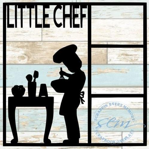 Little Chef Scrapbook Overlay
