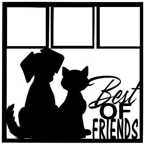 Best Of Friends Scrapbook Overlay