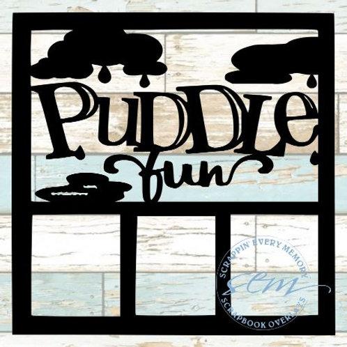 Puddle Fun Scrapbook Overlay