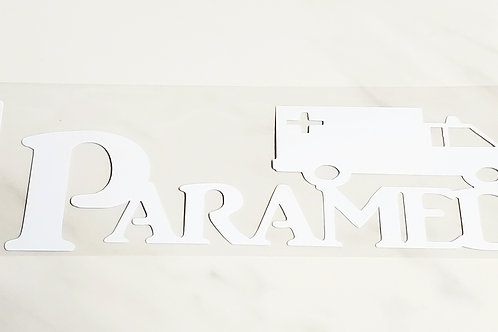 Paramedic Scrapbook Deluxe Die Cut