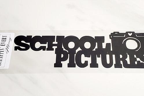 School Pictures Scrapbook Deluxe Die Cut