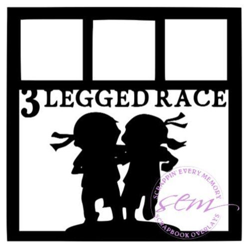 3 Legged Race Scrapbook Overlay