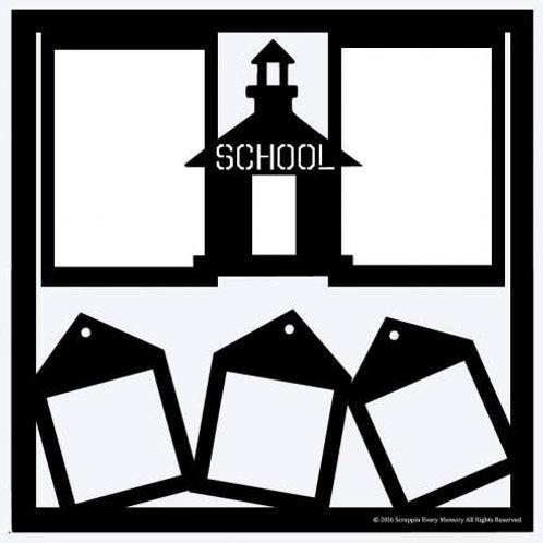 School Scrapbook Overlay