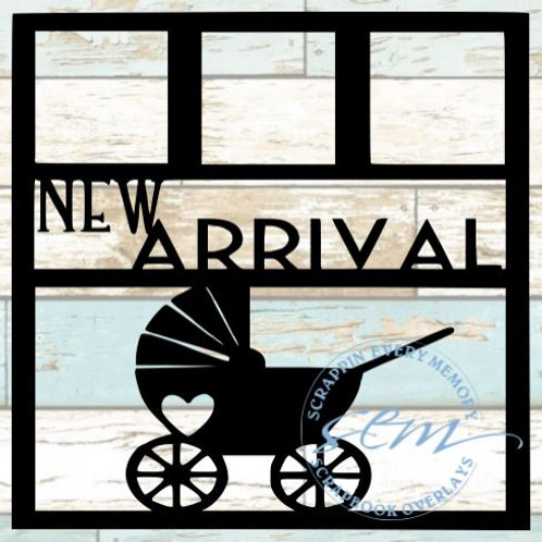 New Arrival Scrapbook Overlay