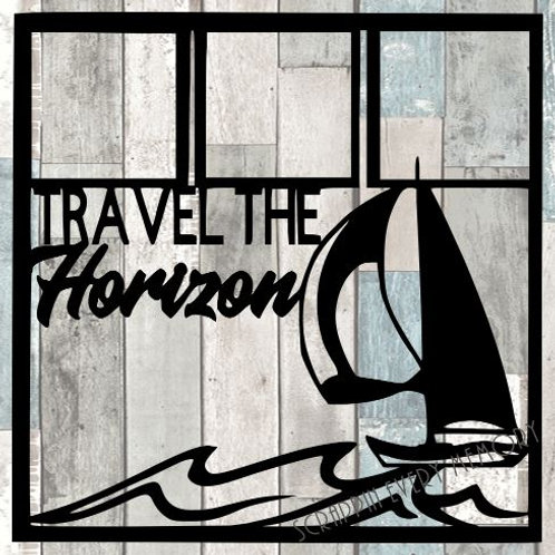 Travel The Horizon Scrapbook Overlay