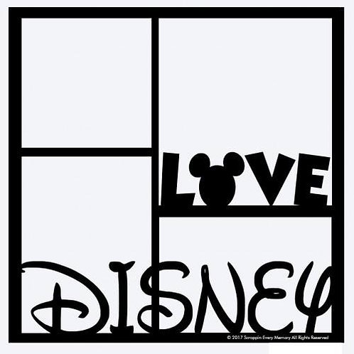 Love Disney Scrapbook Overlay