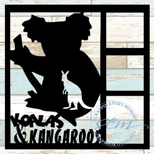 Koalas & Kangaroos Scrapbook Overlay