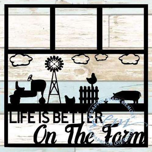 Life Is Better On The Farm Scrapbook Overlay