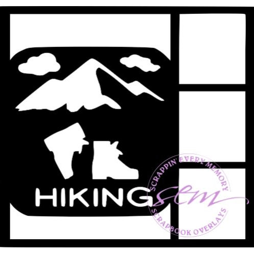 Hiking Scrapbook Overlay