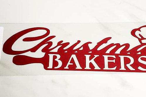 Christmas Bakers Scrapbook Deluxe Die Cut