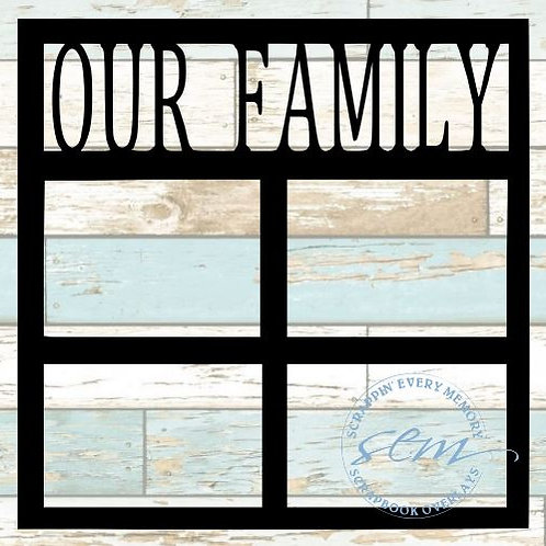 Our Family Scrapbook Overlay