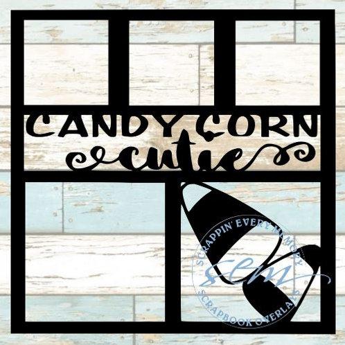 Candy Corn Cutie Scrapbook Overlay