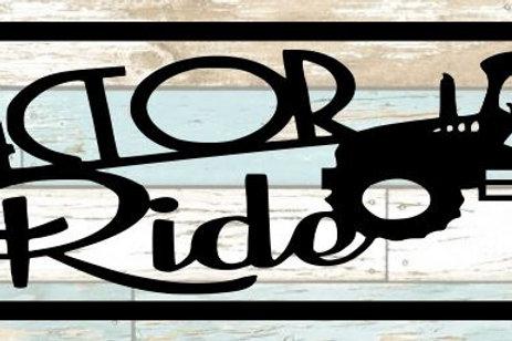 Tractor Ride Scrapbook Title