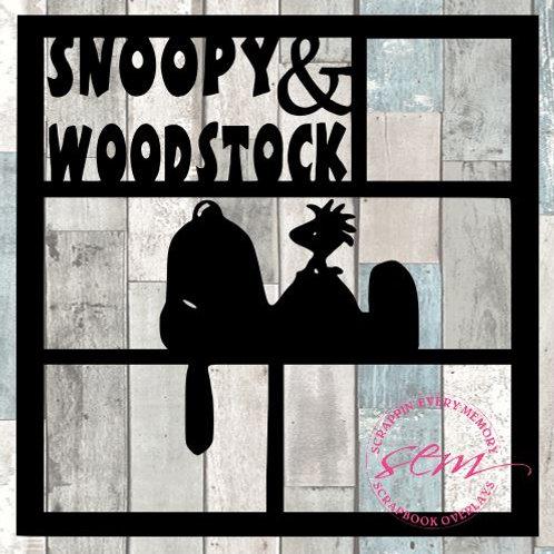 Snoopy & Woodstock Scrapbook Overlay