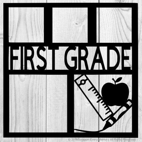 First Grade Scrapbook Overlay