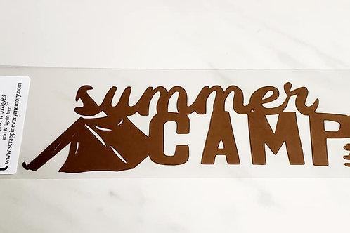 Summer Camp Scrapbook Deluxe Die Cut