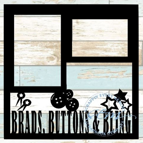Brads, Buttons & Bling Scrapbook Overlay