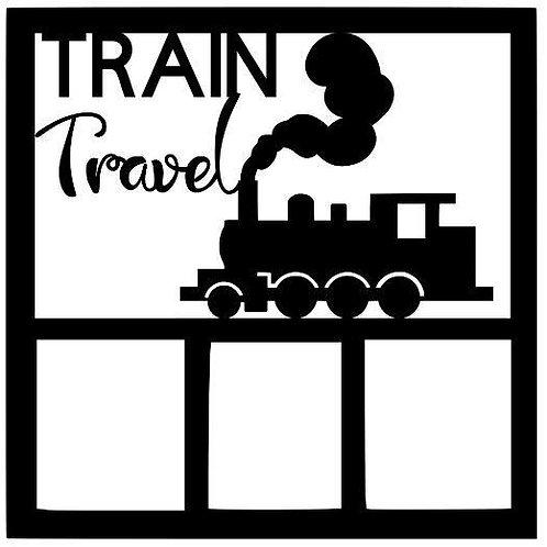 Train Travel Scrapbook Overlay