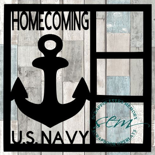 Homecoming U.S. Navy Scrapbook Overlay