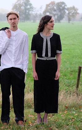 'Mother of pearls' silk dress XL / XXL
