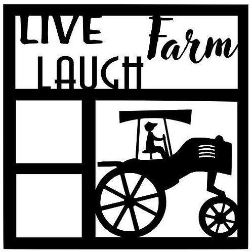 Live Laugh Farm Scrapbook Overlay
