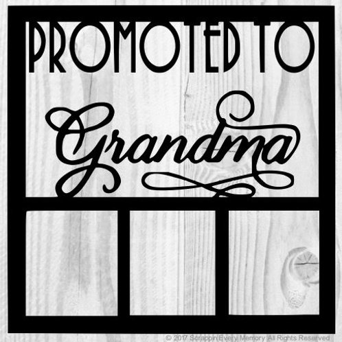 Promoted To Grandma Scrapbook Overlay