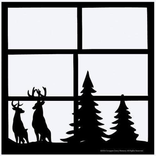 Deer Scene Scrapbook Overlay