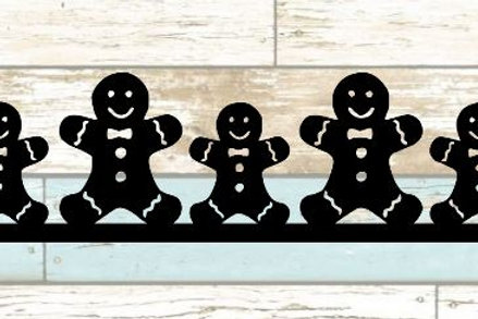 Gingerbread Men Scrapbook Border
