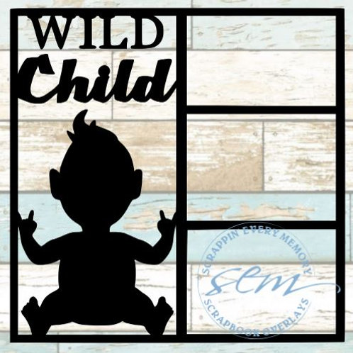 Wild Child Scrapbook Overlay