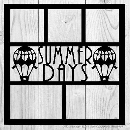 Summer Days Scrapbook Overlay