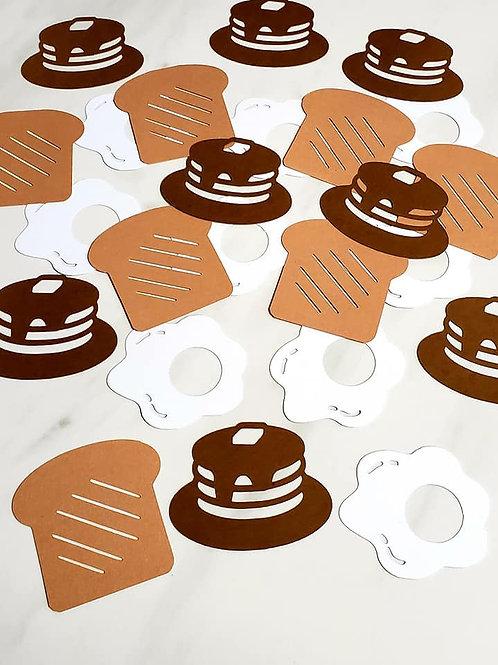 Breakfast Theme Scrapbook Page Confetti
