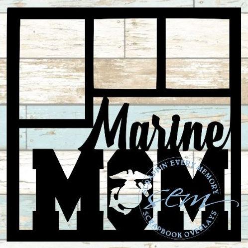 Marine Mom Scrapbook Overlay