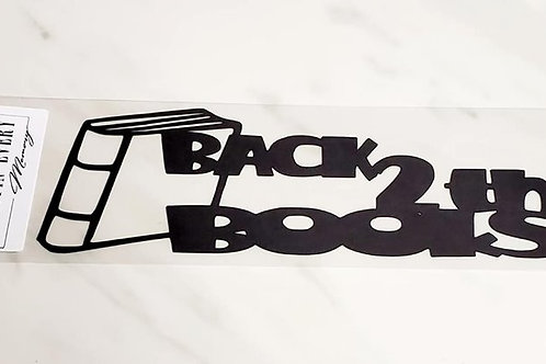 Back 2 The Books Scrapbook Deluxe Die Cut