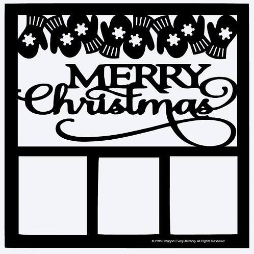 Merry Christmas Scrapbook Overlay