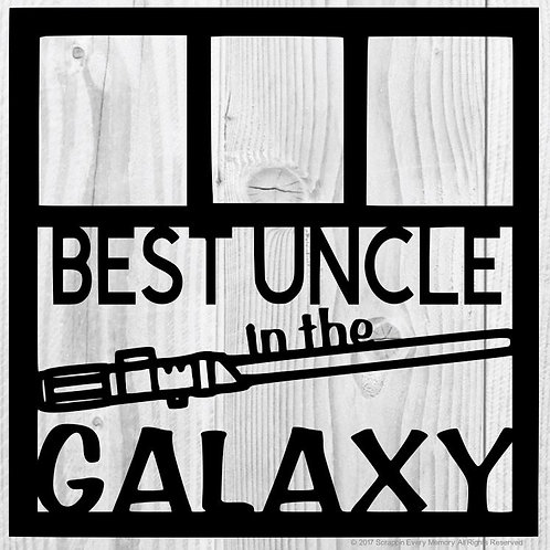 Best Uncle In The Galaxy Scrapbook Overlay