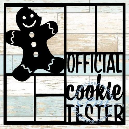 Official Cookie Tester Boy Scrapbook Overlay