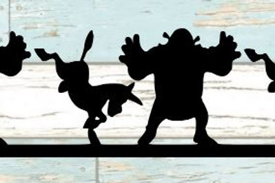 Shrek & Donkey Scrapbook Border