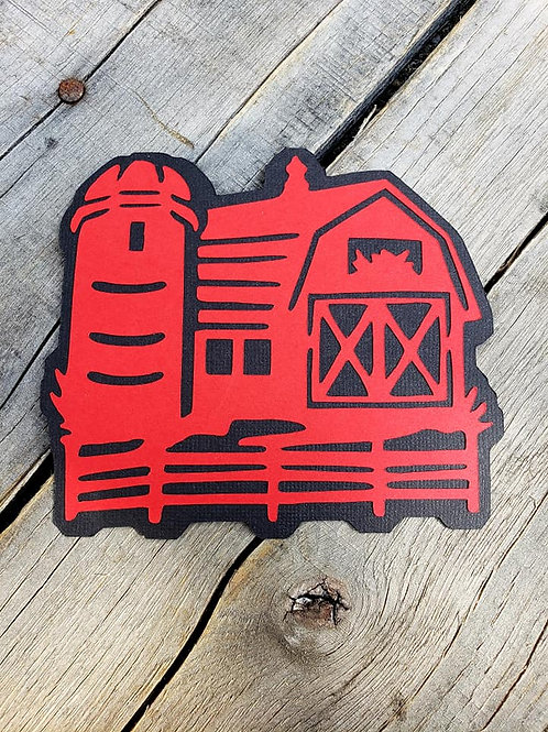 Barn Paper Piecing Die Cut