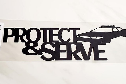 Protect and Serve Scrapbook Deluxe Die Cut